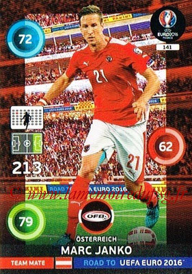 Panini Road to Euro 2016 Cards - N° 141 - Marc JANKO (Autriche)