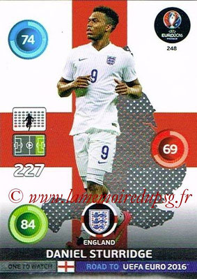 Panini Road to Euro 2016 Cards - N° 248 - Daniel STURRIDGE (Angleterre) (One to Watch)