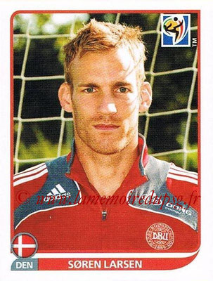 2010 - Panini FIFA World Cup South Africa Stickers - N° 369 - Soren LARSEN (Danemark)