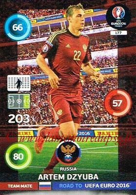Panini Road to Euro 2016 Cards - N° 177 - Artem DZYUBA (Russie)