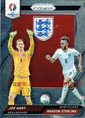 Euro 2016 Panini Prizm - N° CCD-16 - Joe HART + Raheem STERLING (Angleterre) (Country Combinaions Duals)