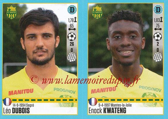 2016-17 - Panini Ligue 1 Stickers - N° 612 + 613 - Léo DUBOIS + Enock KWATENG (Nantes)