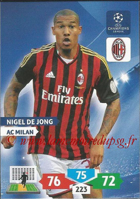 2013-14 - Adrenalyn XL champions League N° 186 - Nigel DE JONG (AC Milan)