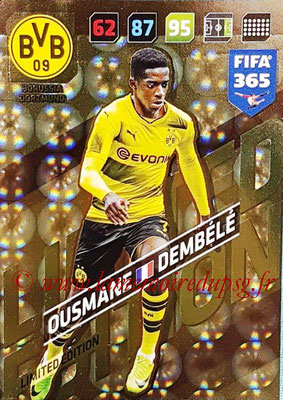 2017-18 - Panini FIFA 365 Cards - N° LE-OD - Ousmane DEMBELE (Borussia Dortmund) (Limited Edition)