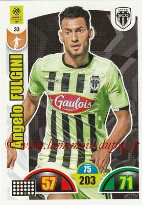 2018-19 - Panini Adrenalyn XL Ligue 1 - N° 033 - Angelo FULGINI (Angers)