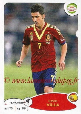 2014 - Panini Road to FIFA World Cup Brazil Stickers - N° 142 - David VILLA (Espagne)