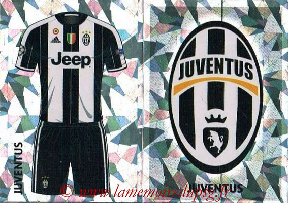 2016-17 - Topps UEFA Champions League Stickers - N° JUV 1-2 - Logo + Maillot Domicile (Juventus FC)
