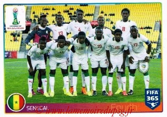 2015-16 - Panini FIFA 365 Stickers - N° 047 - Sénégal (FIFA U20 World Cup)