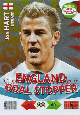 2014 - Panini Road to FIFA World Cup Brazil Adrenalyn XL - N° 211 - Joe HART (Angleterre) (Goal Stopper)