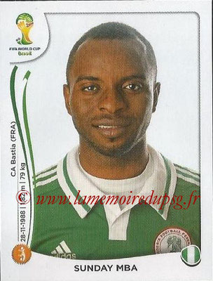 2014 - Panini FIFA World Cup Brazil Stickers - N° 481 - Sunday MBA (Nigéria)