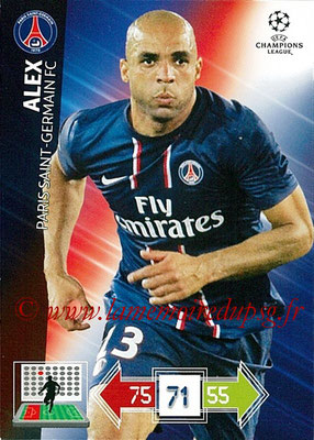 2012-13 - Adrenalyn XL champions League N° 207 - ALEX (Paris Saint-Germain)