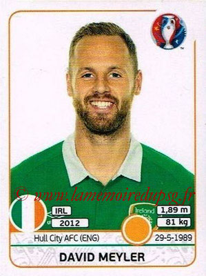 Panini Euro 2016 Stickers - N° 525 - David MEYLER (République d'Irlande)