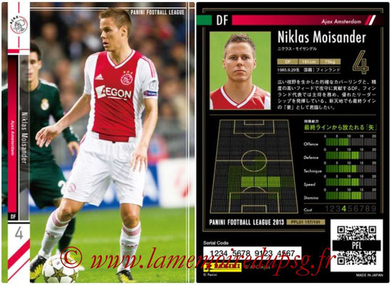 Panini Football League 2013 - PFL01 - N° 157 - Niklas Moisander ( Ajax Amsterdam )