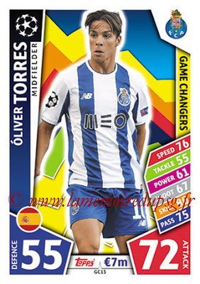 2017-18 - Topps UEFA Champions League Match Attax - N° GC13 - Oliver TORRES (FC Porto) (Game Changers)