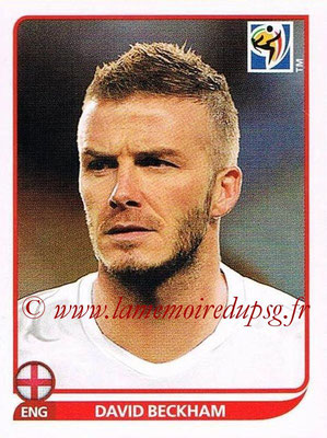 2010 - Panini FIFA World Cup South Africa Stickers - N° 190 - David BECKHAM (Angleterre)