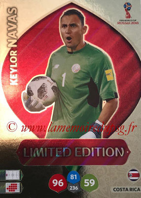 2018 - Panini FIFA World Cup Russia Adrenalyn XL - N° LE-KN - Keylor NAVAS (Costa Rica) (Limited Edition)