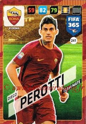 2017-18 - Panini FIFA 365 Cards - N° 241 - Diego PEROTTI (AS Roma)