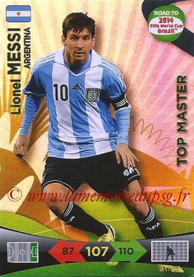 2014 - Panini Road to FIFA World Cup Brazil Adrenalyn XL - N° 231 - Lionel MESSI (Argentine) (Top Master)