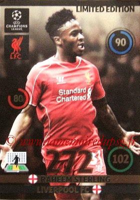 2014-15 - Adrenalyn XL champions League N° LE-RS - Raheem STERLING (Liverpool FC) (Limited Edition)