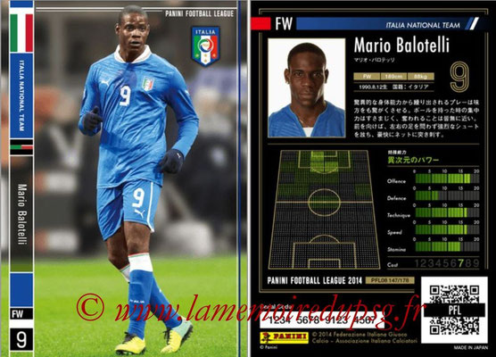 Panini Football League 2014 - PFL08 - N° 147 - Mario BALOTELLI (Italie)