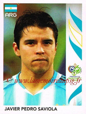 2006 - Panini FIFA World Cup Germany Stickers - N° 186 - Javier Pedro SAVIOLA (Argentine)