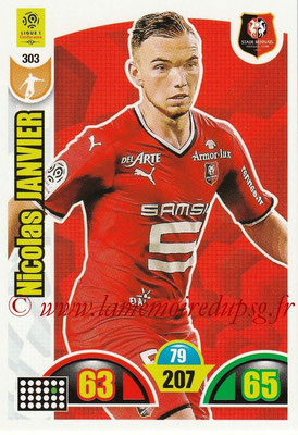 2018-19 - Panini Adrenalyn XL Ligue 1 - N° 303 - Nicolas JANVIER (Rennes)