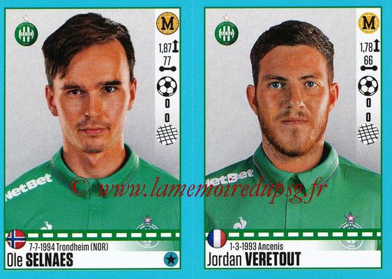 2016-17 - Panini Ligue 1 Stickers - N° 792 + 793 - Ole SELNAES + Jordan VERETOUT (Saint-Etienne)
