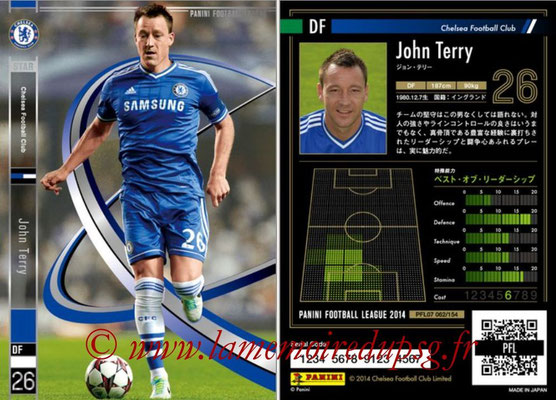 Panini Football League 2014 - PFL07 - N° 062 - John TERRY (Chelsea FC) (Star)