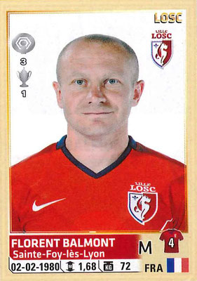 2014-15 - Panini Ligue 1 Stickers - N° 156 - Florent BALMONT (Lille OSC)