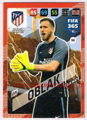 2017-18 - Panini FIFA 365 Cards - N° 088 - Jan OBLAK (Atletico Madrid)