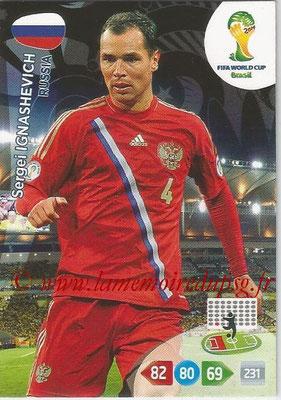 2014 - Panini FIFA World Cup Brazil Adrenalyn XL - N° 284 - Sergei IGNASHEVICH (Russie)