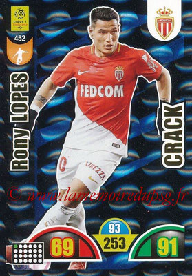 2018-19 - Panini Adrenalyn XL Ligue 1 - N° 452 - Rony LOPES (Monaco) (Crack)