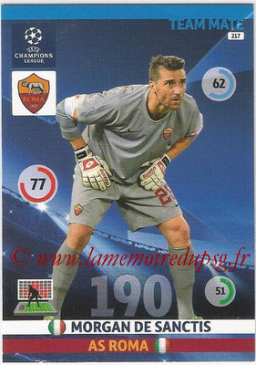 2014-15 - Adrenalyn XL champions League N° 217 - Morgan DE SANCTIS (AS Roma)