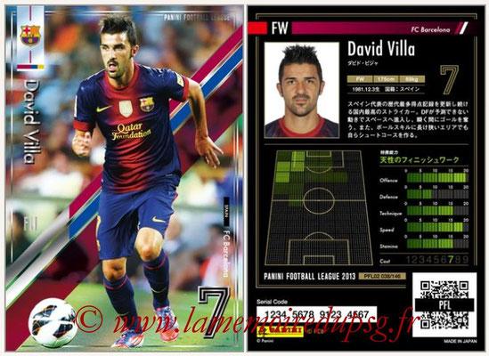 Panini Football League 2013 - PFL02 - N° 038 - David Villa ( FC Barcelona )
