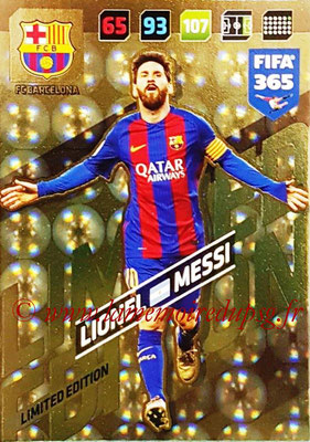 2017-18 - Panini FIFA 365 Cards - N° LE-LM - Lionel MESSI (FC Barcelone) (Limited Edition)