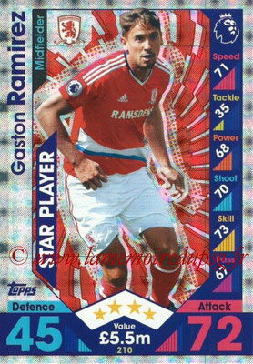 2016-17 - Topps Match Attax Premier League - N° 210