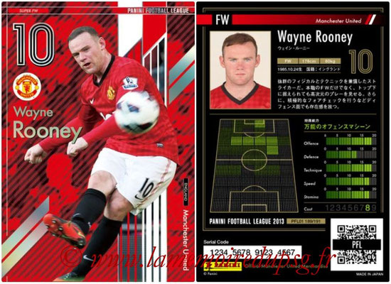 Panini Football League 2013 - PFL01 - N° 189 - Wayne Rooney ( Manchester United  ) (Super FW)