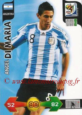 2010 - Panini FIFA World Cup South Africa Adrenalyn XL - N° 019 - Angel DI MARIA (Argentine)