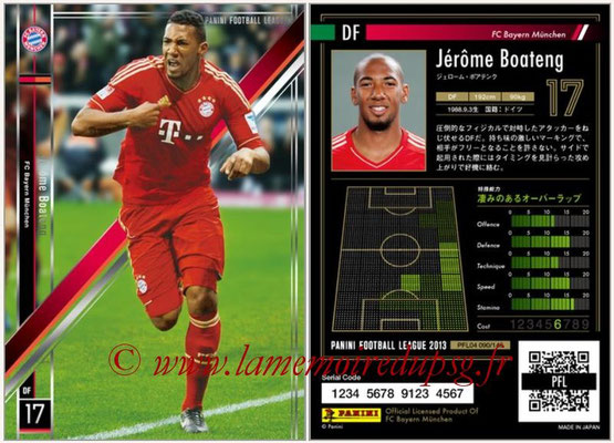 Panini Football League 2013 - PFL04 - N° 090 - Jerome BOATENG (Bayern Munich)