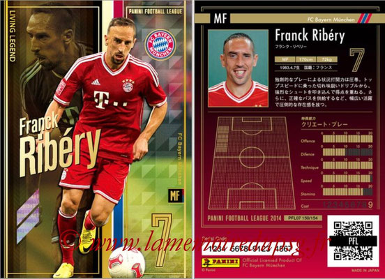 Panini Football League 2014 - PFL07 - N° 150 - Franck RIBERY (Bayern Munich) (Living Legend)