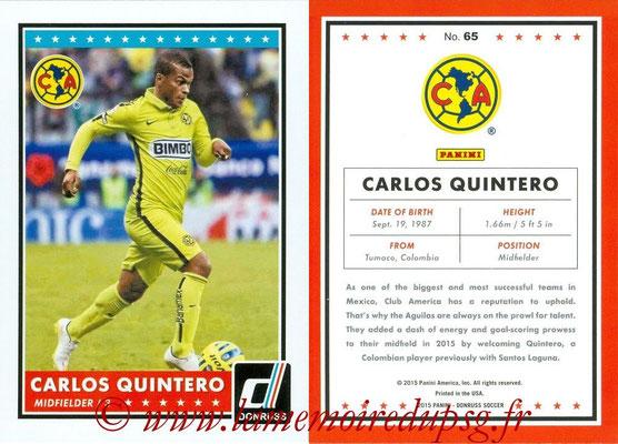 2015 - Panini Donruss Soccer - N° 065 - Carlos QUINTERO (Club America)