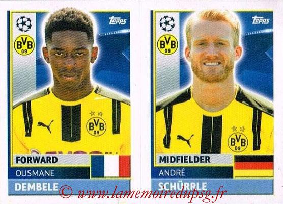 2016-17 - Topps UEFA Champions League Stickers - N° DOR 16-17 - Andre SCHURRLE + Ousmane DEMBELE (Borussia Dortmund)