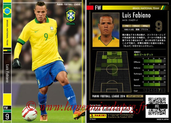 Panini Football League 2014 - PFL07 - N° 124 - Luis FABIANO (Bresil)