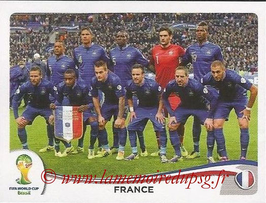 2014 - Panini FIFA World Cup Brazil Stickers - N° 375 - Equipe France