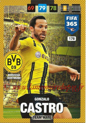 2016-17 - Panini Adrenalyn XL FIFA 365 - N° 178 - Gonzalo CASTRO (Borussia Dortmund)