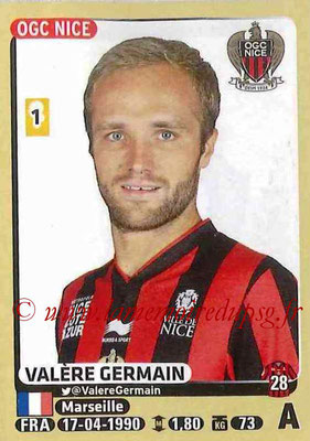 2015-16 - Panini Ligue 1 Stickers - N° 334 - Valère GERMAIN (OGC Nice)