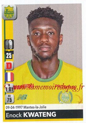 2018-19 - Panini Ligue 1 Stickers - N° 280 - Enock KWATENG (Nantes)