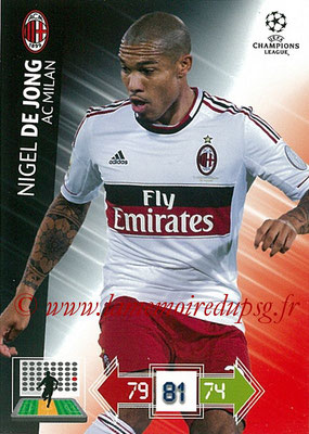 2012-13 - Adrenalyn XL champions League N° 158 - Nigel DE JONG (Milan AC)