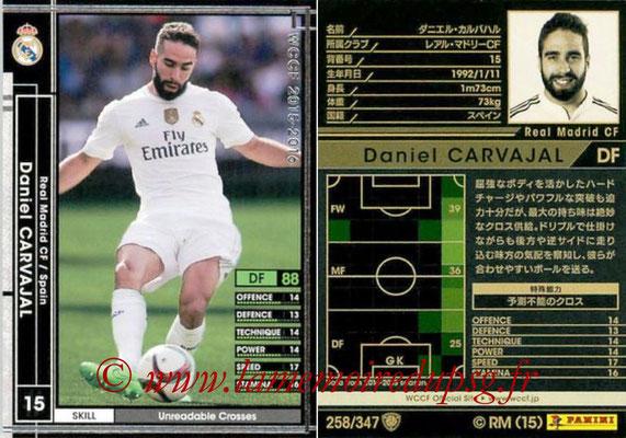 2015-16 - Panini WCCF - N° 258 - Daniel CARVAJAL (Real Madrid CF)