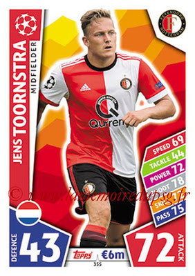 2017-18 - Topps UEFA Champions League Match Attax - N° 355 - Jens TOORNSTRA (Feyenord)